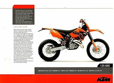 KTM 125 EXC Offroad Motorcycle Brochure / Leaflet 2006 7590E