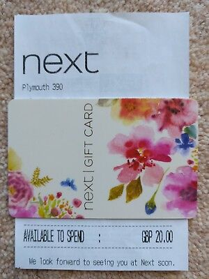 Next gift card £20 with receipt