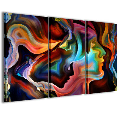 Stampe su tela 3pz.120x90cm Abstract Painting 011 Quadri Moderni Astratti Quadro