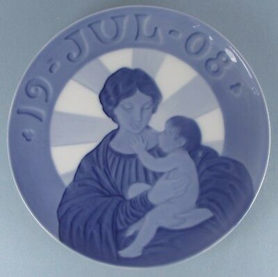 Royal Copenhagen Madonna and Child 1908 Christmas Plate Excellent Condition