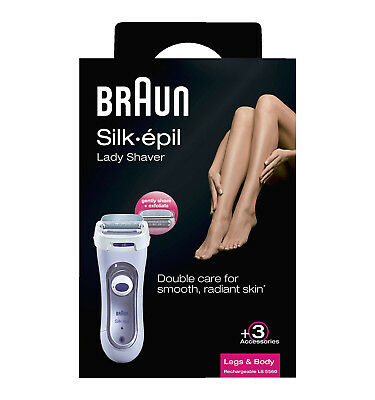 Genuine Boxed Braun Silk Epil Leg & Body Exfoliating Lady Shaver [LS 5560]