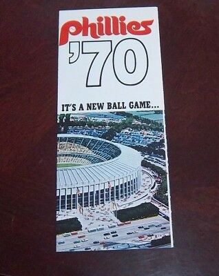 Philadelphia phillies ticket order and schedules Pamplet 1970