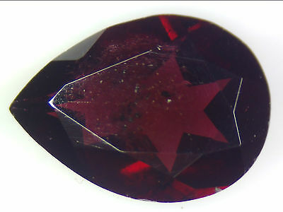 2.42 Ct Natural Dark Purple Rhodolite Garnet Loose Gemstones Pear Cut 7.57 X10.5