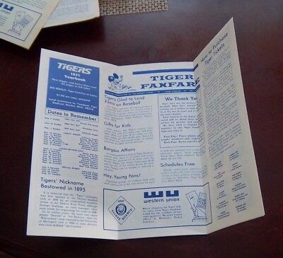 Detroit Tigers Tiger Fan Fare  roster / schedules ticket info /Player photos1971