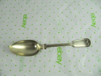 LARGE ANTIQUE SPOON - Fiddle Handle Pattern - HTF- Makers marks
