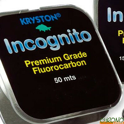 New Carp Fishing Line Kryston Incognito Premium 9lbs Fluorocarbon Hook Length