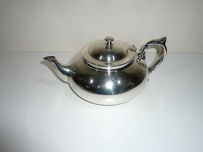 Antique Silver Plate Robur Tea-Pot In V.g.c. With Strainer Insert