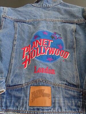PLANET HOLLYWOOD Jean Jacket LONDON Embroidered Girls Youth MEDIUM Free Shipping
