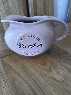 Rare item- Crawfords Old Scotch Whisky Ceramic Water Jug By Wade