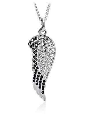 Women's Angel Wing Necklace accented with Swarovski Crystals Shields of Strength