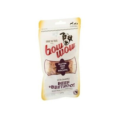 Bow Wow Gluten Free Pet Biscuits 100g - Beef & Beetroot