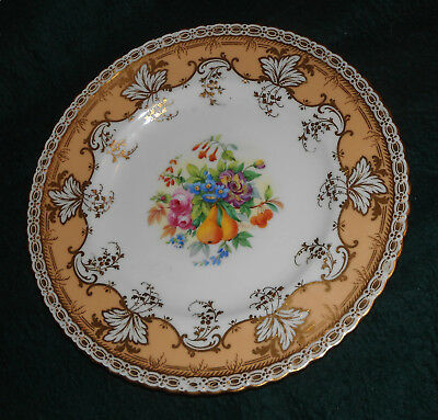 "Fabulous Minton Hand Painted Fruit & Flower 10 5/8"" Plate Signed J. Colclough"
