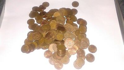 ONE ROLL OF MIXED DATE CANADIAN PENNIES. Great coins for collecting.