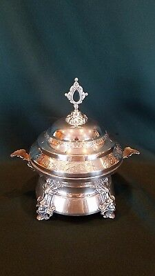 Antique Victorian Silver Plated Chilled Butter Server Rogers & Bro AESTHETIC