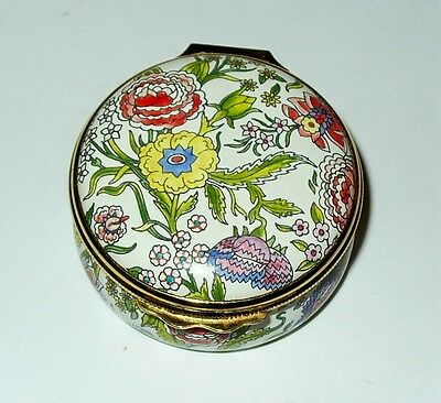 Halcyon Days English Enamel Box - Flowers - Metropolitan Opera Centennial - Mib