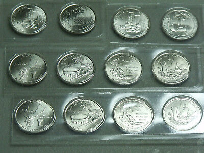 2009-P-D Satin Finish Quarter Set  (12 coins) BU in mint plastic
