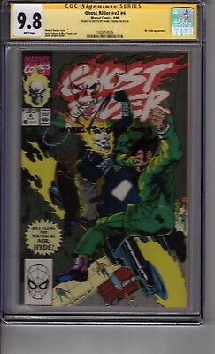 (B2) Ghost Rider V2 #4 CGC 9.8 SS  *Mark Texeira Signed and Sketched*