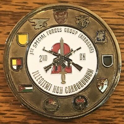 US Army 1st Special Forces Group (Airborne) 2nd Battalion Challenge Coin