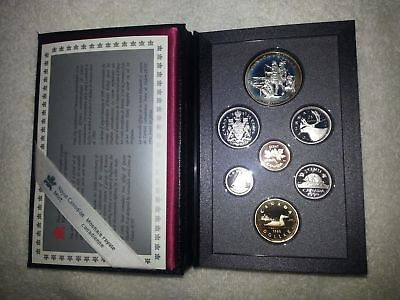 1990-Royal-Canadian-Canada-Silver-Double-Dollar-Proof-Set-SEALED-Never-Opened