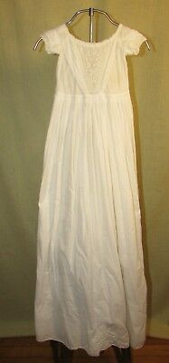 Mid 19Th Century Embroidered Christening Gown, With Notes