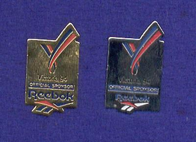 Silver & Gold Versions Reebok Athletic Sport Shoes Commonwealth Games Pins z3