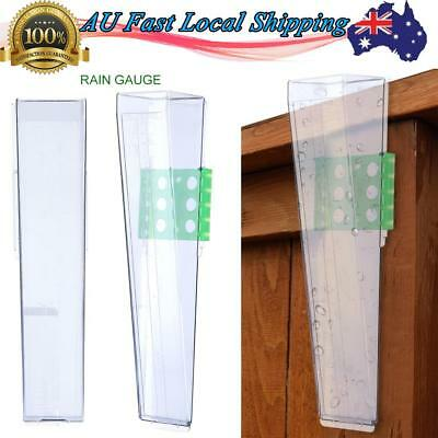 Water Rain Gauge with Mounting Plate Outdoor Garden Yard Raining Measure Tool