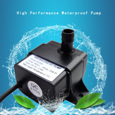 Low Noise QR30B DC 5V 2.3W 220L/H Waterproof IP68 CPU Brushless Water Pump