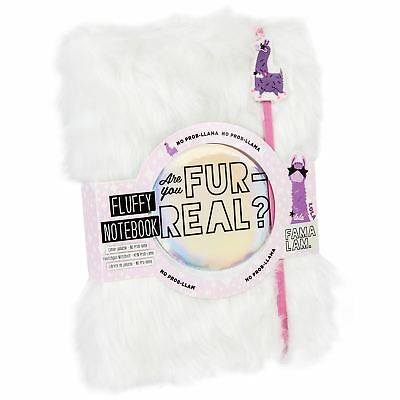 NPW Llama Furry Fluffy Notebook Notepad White 80 pages