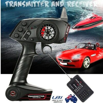 2.4G 3CH Wireless Remote Control Transmitter Receiver Kits Tools for RC Car Boat