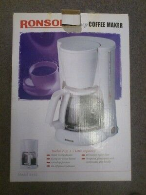 Ronson Coffee Maker 1.5L capacity BRAND NEW