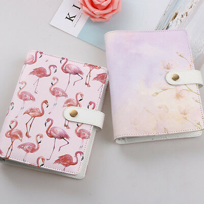 Hot Flamingo Watercolor Cat A6 Spiral Diary Cover PU Planner Cover For A6 Papers