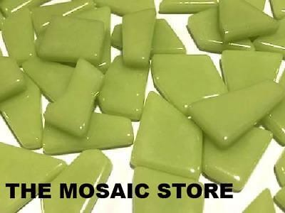 Lime Irregular Gloss Glass Tiles | Mosaic Tiles Art Craft Supplies