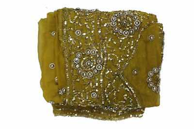 Exotic Indian Wedding Dupatta Scarf Sequins Embroidery Georgette Veil L""