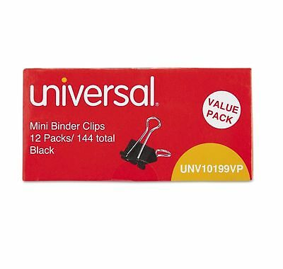 "Universal Steel Wire Binder Clips 1/4"" Capacity 1/2"" Wide Mini 144 ct--Free Ship"
