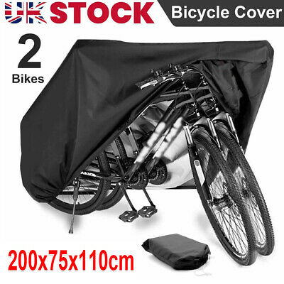 For 2 Bike Cycle Bicycle Rain Snow All Weather Cover Waterproof Storage Bag