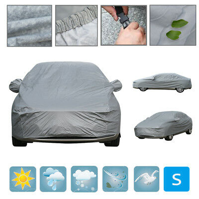 Heavy Duty Waterproof Car Cover Breathable Cotton Lined Small 2 Layer UV Protect