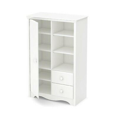 South Shore Heavenly Armoire With Drawers, Pure White Baby Furniture Brand  NEW