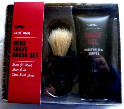 Real Men Mens Shave Brush Set