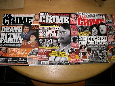 real crime magazines x3 fred and rose west railway killers