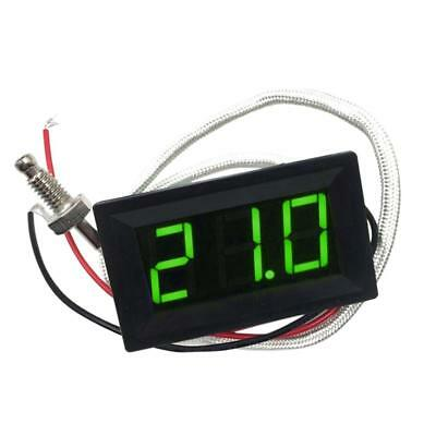Green DC 12V -30 to 800 C Digital LED Thermometer Temperature Detector Meter