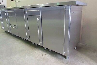 Stainless steel kitchen base units various widths, stainless steel kitchen units