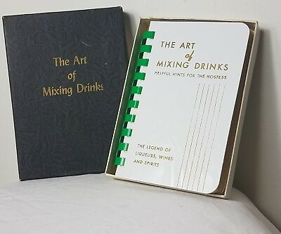 THE ART OF MIXING DRINKS 1954 BARTENDER'S GUIDE BOOK IN BOX, vintage book