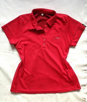 Maier Sports Polo Shirt 40 Funktionspolo rot Funktionsshirt Wandern Outdoor Top