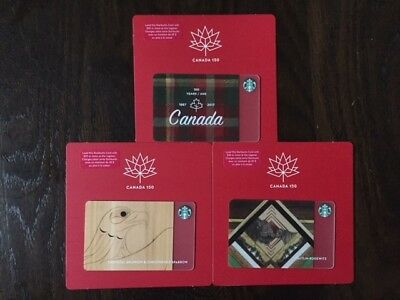 "Starbucks ""CANADA 150TH LIMITED EDITION SET"" - New No Value Bilingual (Eng/Fr)"