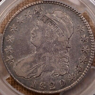 1820 O.105 Capped Bust half dollar, PCGS VF30, low mintage!   DavidKahnRareCoins