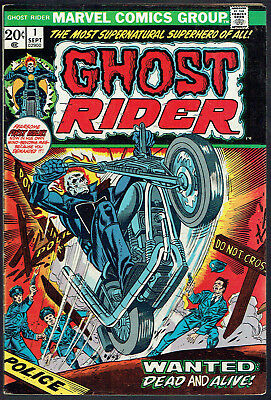 GHOST RIDER  1  FN/6.0  -  1st issue from 1973!