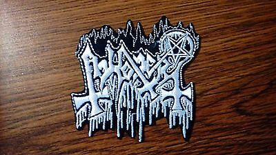 Abhorer,iron On White Embroidered Patch