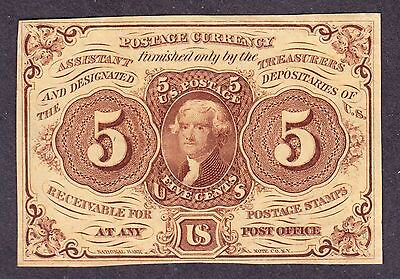 US 5c Fractional Currency 1st Issue FR 1230 AU