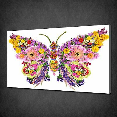 Floral Butterfly Canvas Print Picture Wall Art Free Fast Delivery