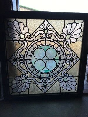 SG 1818 wow gorgeous window 34 x 35 stain glass antique
